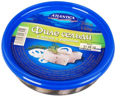 Atlantica Heringfilet in Öl mit Dill 200g