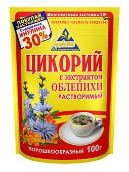 Zdorovje Zichorienpulver mit Sanddorn 100g